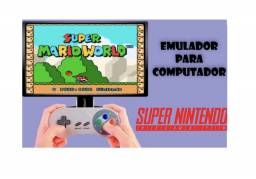 Controles com jogos de Super Nintendo Pc Notebook e Brinde