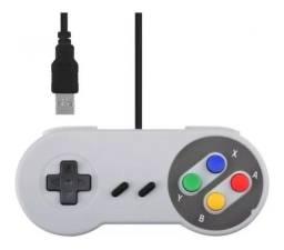 Título do anúncio: Controle Super Nintendo Usb Para Pc, Notbook E Game Retro