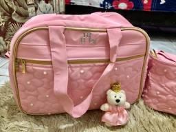 Título do anúncio: Bolsas de maternidade ursa rosa
