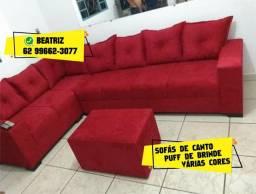 Título do anúncio: SOFÁ DE CANTO VERMELHO
