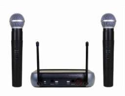 Kit Microfone S fio Duplo