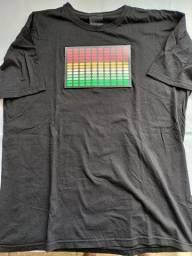 Camiseta led eletrônica equalizador