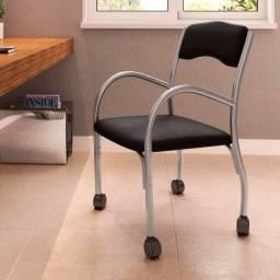 Título do anúncio: Cadeira com Rodízios Home Office Cinza/Preto