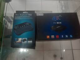 Combo tv box e mini tecla com led