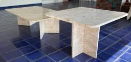 Título do anúncio: Mesas de centro e lateral em mármore tra