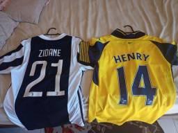 Camisas de futebol lendas.