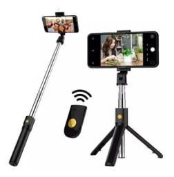 Título do anúncio: Bastão Tripé Mini 360º Pau De Selfie Bluetooth 3em 1 Celular