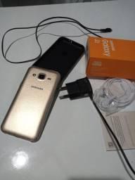 Samsung J2 dourado tudo funcionando.