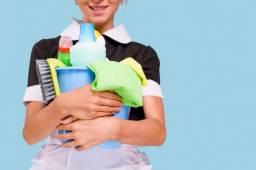 faxineira para casa ou escritório, sanitizo