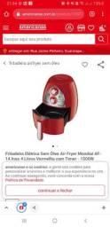 Fritadeira Elétrica Sem Óleo Air Fryer Mondial 4 Litros Vermelha