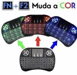 Título do anúncio: Mini teclado iluminado keyboard com mouse
