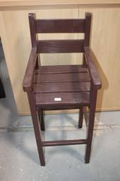 Título do anúncio: Cadeira Infantil em MDP Marrom 92 cm x  36 cm x  40 cm
