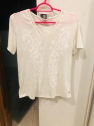 Camisa feminina offwitte da Hering