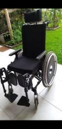 BAIXOU!! Cadeira de rodas reclinável com apoios