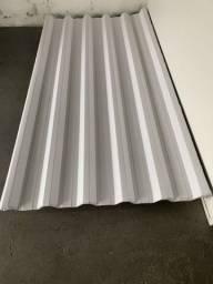 Telha metalica com pintura branca nos dois lados
