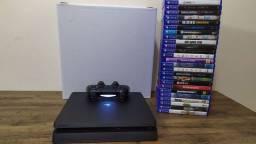 PS4 SLIM + 1 Jogo Brinde Aceito Xbox One S + Volta parcelo em até 12 X