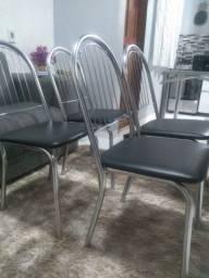 Título do anúncio: Vendo essas 4 cadeiras de aço inox por 580
