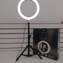 Ring led light 25,5 cm com controle e tripé mbtech