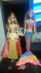 Barbie Sereia e princesa aurora em perfeito estado