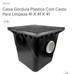 Caixa de gordura plástica com cesto de limpeza