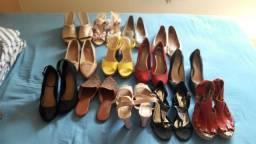 Vende-se lote de roupas e sapatos para montar bazar