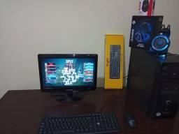 PC Gamer i3 3°Geração + Monitor 17+ Teclado+Mouse +Fone + ,Jogos FreeFire, Valorant