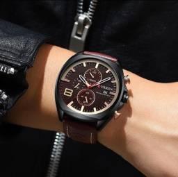 relógio Curren Masculino Calendário milésimo segundos minutos Marca De Luxo Quartz 8324