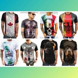 Camisetas long 3 por 135,00 não Desbota top