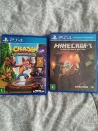 Vendo 2 jogos para ps4