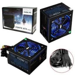 Fonte Atx Gamer 450w Real - Cowboy Indicada para PC com jogos