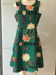 Título do anúncio: Vestido verde floral