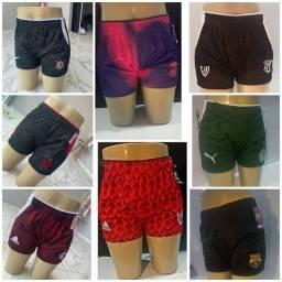 Título do anúncio: Shorts feminino de times nacionais e europeu.tam M e G.. Atacado