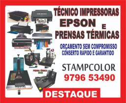 Tecnico de conserto e manutençao de prensa plana e Impressoras Epson
