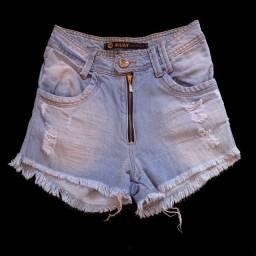 Short jeans cós alto