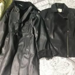 2 jaquetas de couro tamanho P