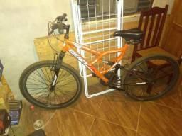 Bicicleta aro 26 suspensão dupla