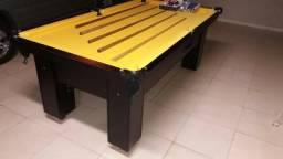 Mesa com Redinhas Cor Preta Tecido Amarelo Mod. JPDO5328