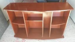 Rack de madeira cor mogno, em bom estado comprar usado  Florianópolis