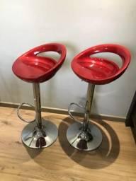 Banquetas vermelhas seminovas, usado comprar usado  Curitiba