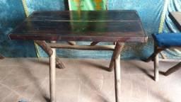 Mesa de madeira 2 lugares