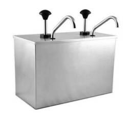 Dispenser Dosador Duplo de Molho ou Condimento em Aço Inox 6L