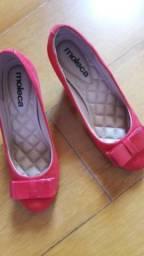 Sapato vermelho Moleca 36