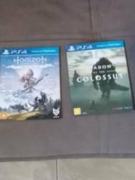 2 jogos de ps4 horizon zero dawn e shadow of the colossus