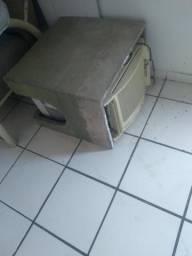 Caixa de concreto para ar condicionado