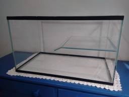 Aquário para tartaruga 70 litros com filtro e aquecedor