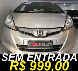 Honda Fit 1.4 Lx Único Dono 2013 Prata Mec