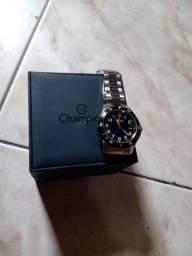 Relógio prata champion