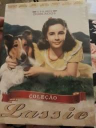 Box dvd coleção filme Lassie. 3 dvds. Cinema Elizabeth Taylor