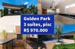 Vendo excelente casa no Golden Park com piscina e espaço gourmet