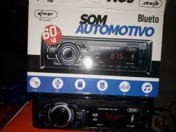 Som de Carro Bluetooth Radio Pendrive Usb
